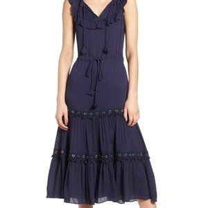 MISA LOS ANGELES Gabriella Blue Long Dress